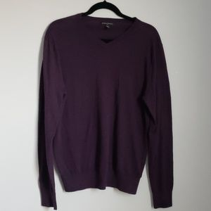 Banana Republic purple v-neck sweater